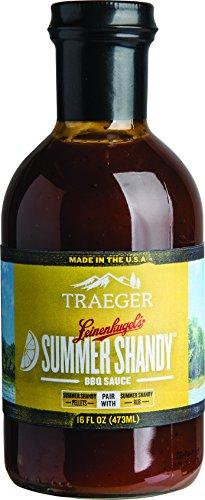 Summer Rub - Traeger SAU034 Leinenkugel's Summer Shandy BBQ Sauce 16 OZ, Brown