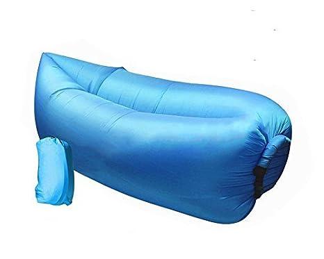 Nueva portátil Lazy tumbona cama de aire inflable sofá puf ...