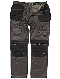 "Apache Black & Grey Work Holster Trouser w/ Knee Pad Pocket 31"" Leg 40"" Waist"