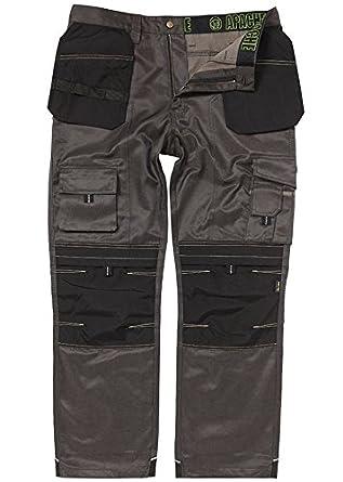 Wright Wears Hommes Pro-11 Gris et Kaki Pantalons de Travail Pantalons Cargo Combat Travailleur Tailles 30-42W