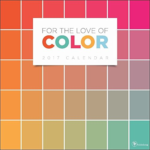 TF Publishing For the Love of Color 2017 Large Grid Wall Calendar
