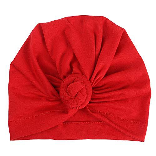 Outtop(TM) Baby&Mom&Dad Headband Newborn Girls Boys Knotted India Hat Cotton Sleep Cap Headwear Hat (Red -Mom)