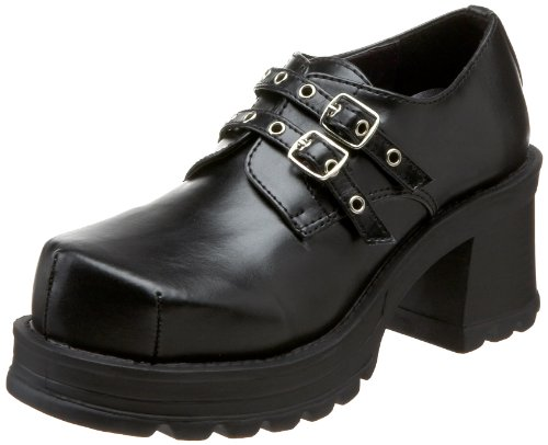 Demonia by Pleaser Women's Trump-101 Loafer,Black Polyuretha