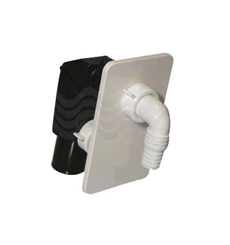 Sifón Lavadora ad integrado con placa blanca bonomini-diam. 40 ...