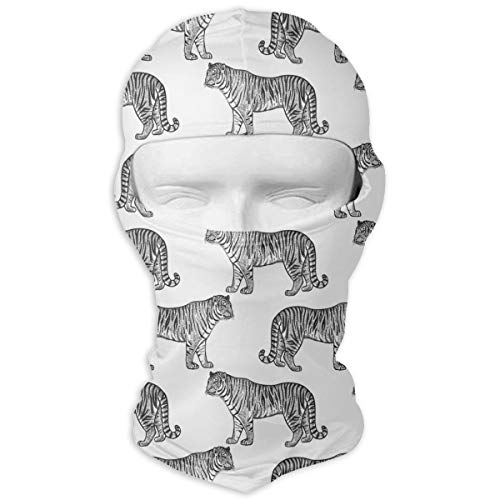 (Black and White Tigers Windproof Dust Protection Balaclava Full Face Mask Hood Headcover)
