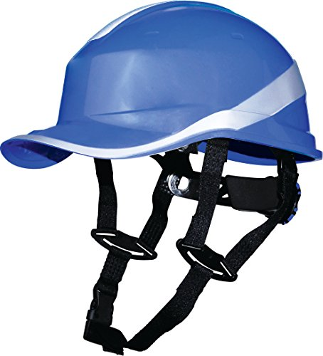 Delta Plus Venitex Baseball Diamond V Up Hard Hat Safety Helmet Bump Cap With Harness PPE (Blue)