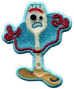 トイストーリー4 ワッペン キャラクター 刺繍 Toy Story ディズニー Disney アイロンワッペン ステッカー シール かわいい 正規品 入園 入学 WAPPEN アップリケ デコ カスタム (5・フォーキー(MY456))