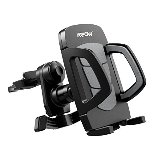 Air Vent Car Mount, Mpow Grip Air Vent Car Mount Phone Holder Cradle with Quick Release/Lock Button, 360 Degrees Rotation for iPhone 7 7 Plus 6S/6 Plus, Samsung Galaxy S7/ S6/ S6 Edge/S5, Black