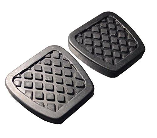 ihave 2X Brake Clutch Pedal Pad Covers for Honda Civic Del Sol CRX Integra ()