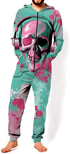 RsgeOn Let`s Rage Skull Candy Premium All Over Print Onesie