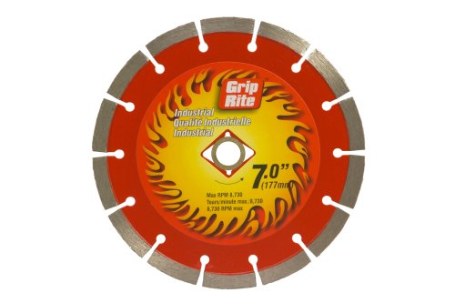 Wet Cutting Circular Saw - Grip-Rite GRSDB7I 7-Inch Industrial Segmented Diamond Blade