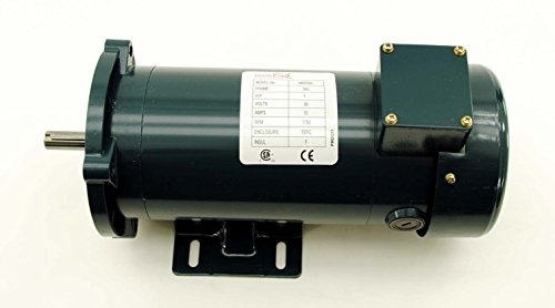 (Lexar 1 HP DC Motor TEFC 90v 1750 RPM 56C Permanent Magnet PMDC01)