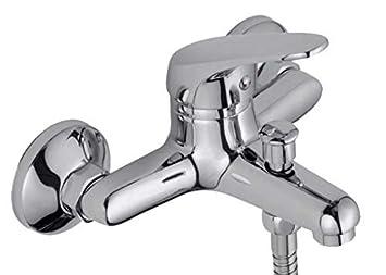 Grifo de bañera Jacar, Acero inoxidable, 100x100 universal, Adaptable a cualquier bañera o