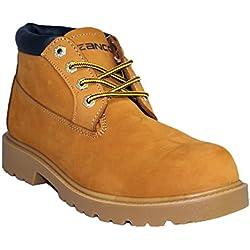 ZANCO MENS WHEAT NUBUCK LEATHER CLASSIC CHUKKA BOOTS # 7521 WIDE WIDTH