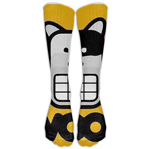 Woof Boy Costume (Woof Knee High Graduated Compression Socks For Women And Men - Best Medical, Nursing, Travel & Flight Socks - Running & Fitness)