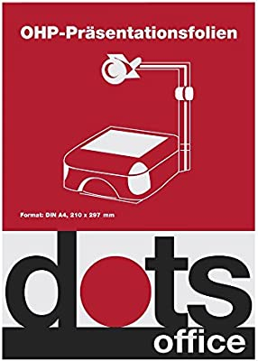50st. Dots OHP protectores para impresora láser de/Color De ...