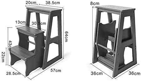 IAIZI Escalera de Tijera Plegable Taburete de Madera de 3 escalones for Adultos Cocina for niños Escaleras de Madera Taburetes pequeños for pies Banco de Zapatos portátil de Interior/Estante de Flor: Amazon.es: