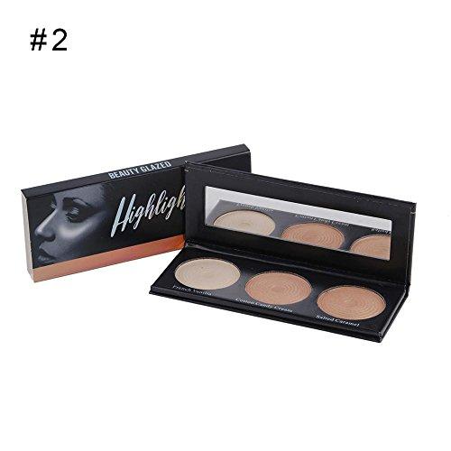 Profession Beauty Glazed Brand Balm Palette Eye Shadow 3 IN 1 Highlighter Shimmer Eyeshadow Pallete Set 2