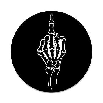 Skeleton Middle finger decal sticker bones