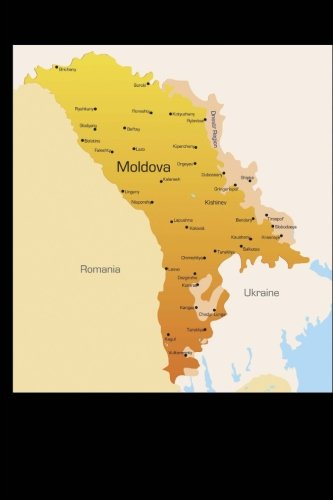 Map of Moldova Journal: 150 page lined notebook/diary