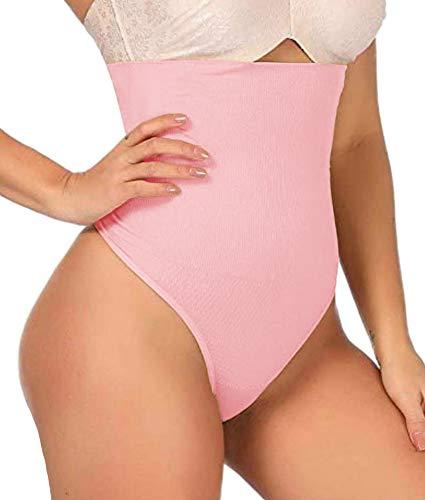 ShaperQueen 102 Best Womens Waist Cincher Body Shaper Trimmer Trainer Slimmer Girdle Faja Bodysuit Short Tummy Belly Weighloss Control Brief Corset Plus Size Underwear Shapewear Thong (3XL, Soft Pink)