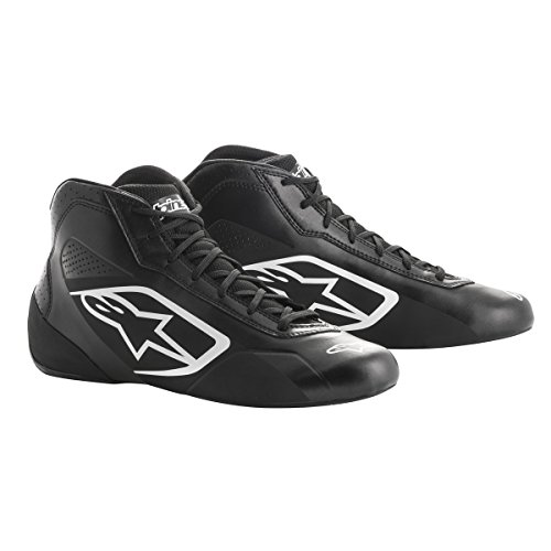 2712013-16-7.5 Black//Green Size-7.5 Tech 1-K Karting Shoes Alpinestars