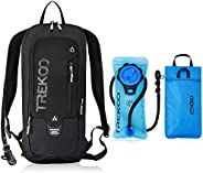 Trekoo 10L Biking Backpack with 2L Water Bladder for Camping, Hiking, Running, Cycling Hunting and Climbing