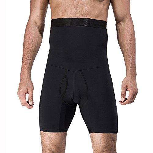 iYunyi Men's High Waist Slimming Body Shaper Tummy Control Shapewear Waist Abdomen Trimming Boxer Brief (Black, Large/36.22-42.13inch) by iYunyi