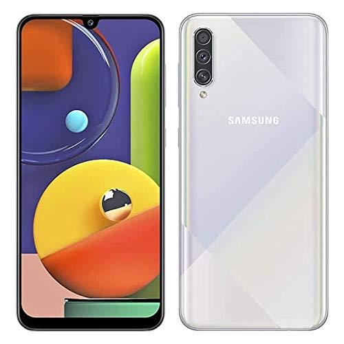 Samsung Galaxy A50s (SM-A507FN/DS) Dual SIM 64GB GSM Unlocked, International Version, No Warranty (White (Prism Crush White)) thumbnail