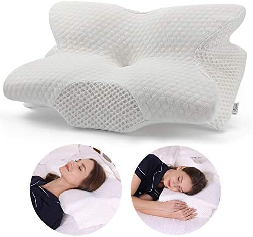 Memory Foam Pillow for Neck and Shoulder Pain Relief. Best neck and back pain pillow review.