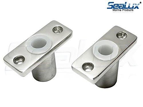 (SeaLux Marine 316 Stainless Steel TOP Mount Oarlock Sockets for 1/2