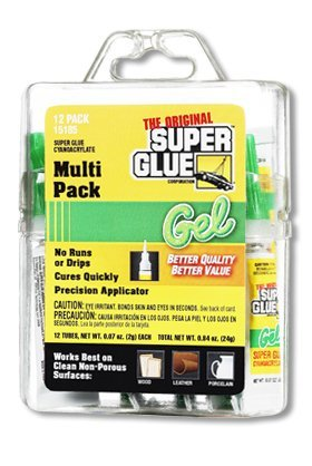 Instant Adhesive, 2g Tube, Clear, PK12