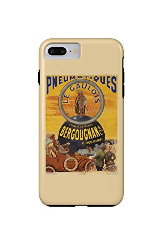 pneumatiques-bergougnan-le-gaulois-vintage-poster-france-c-1905-iphone-7-plus-cell-phone-case-tough