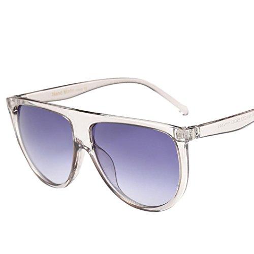 Sunglasses, Mchoice Fashion Unisex Vintage Shaded Lens Thin Glasses Fashion Aviator Mirror Lens Sunglasses (G)