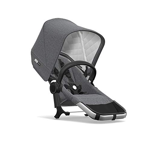 Bugaboo Donkey2 Classic Collection Duo Extension Set, Alu/Grey Mélange – Expand from a Single to a Double Stroller. Includes Duo Extension Adapter, a Toddler Seat, Sun Canopy & Rain Cover!