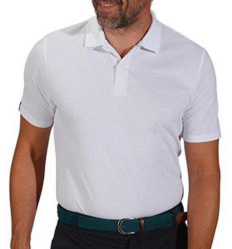 PM Mfg Men White Polo Shirts Clearance 100/% Cotton US-Small