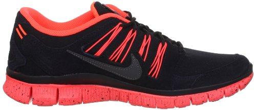 Nike Free Run Mens 5.0 + Ext Scarpe Da Ginnastica Nero / Antracite / Ttl Rosso Cremisi / Grigio Scuro