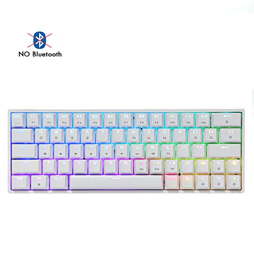 EPOMAKER SKYLOONG SK64 64 Keys Hot Swappable Mechanical Keyboard with RGB Backlit, ABS Keycaps, Arrow Keys, IP64 Waterproof Programmable for Win/Mac/Gaming (Gateron Optical Black, White)