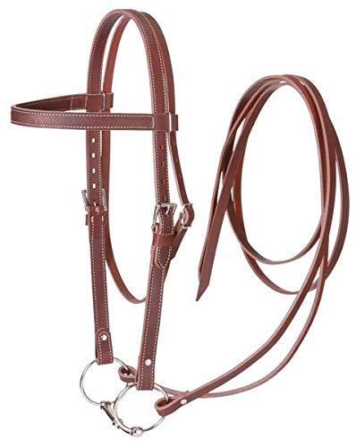 Complete Bridle - Tough 1 Bridle Complete Draft Western Snaffle Leather Black 42-9745