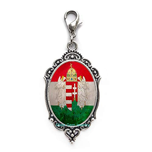 Hungary Jewelry Budapest Zipper Pull Flag Lobster Clasp Hungary Zipper Pull Hungary Flag Zipper Pull s Lobster Clasp,Q0277