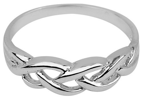 Dainty 14k White Gold Infinity Celtic Knot Promise Ring for Women (10)