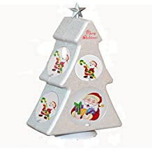Fashion Rotating Christmas tree Photo Frame Box --- BGOING Creative Rotate DIY Table Tabletop Picture Frames for Christmas Wedding Birthday Party Photography (Classic white)