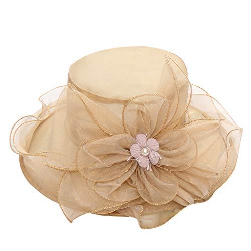 - Women's Bridal Tea Party Wedding Hat Khaki