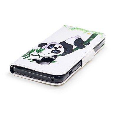 Casos hermosos, cubiertas, Funda Para Samsung A8 2018 A5(2017) Soporte de Coche Cartera con Soporte Flip Magnética Funda de Cuerpo Entero Oso Panda Dura Cuero de PU ( Modelos Compatibles : Galaxy A8 2 Galaxy A3(2017)
