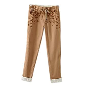 VitaminGirls Women's Brown Cotton Trousers Size XXL