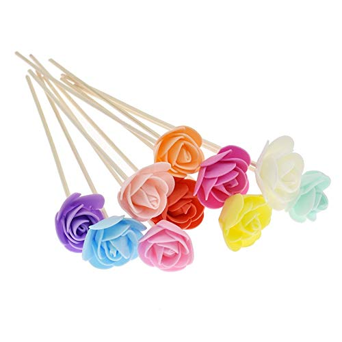 SeedWorld Reed Diffuser Sticks - 10pcs Artificial Flowers Fragrance Diffuser Replacement Sticks Rattan Refill for Incense Aromatherapy DIY Home Decoration 1 PCs