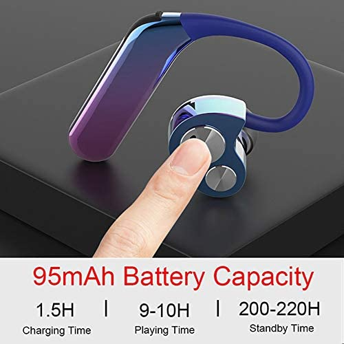 Cetengkeji X6 TWSワイヤレスブルートゥース5.0イヤホンステレオXiaomi Smartphoneゲーム用220Hプレイタイムヘッドフォン (Color : Black)