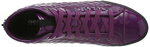 Geox D New Club D - Zapatillas de estar por casa Mujer Dark Purple c8016