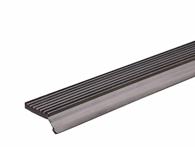 M-D Building Products 87726 7-Feet Dual Vinyl Garage Door Seal for Top and Sides, Brown
