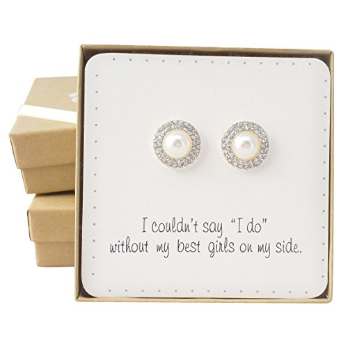 bridesmaid-gifts-07-romantic-pearl-pave-crystal-halo-stud-earrings-set-of-4